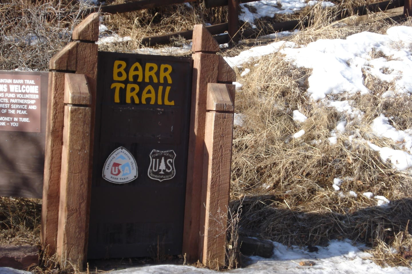 Barr Trail Colorado Trailhead Sign