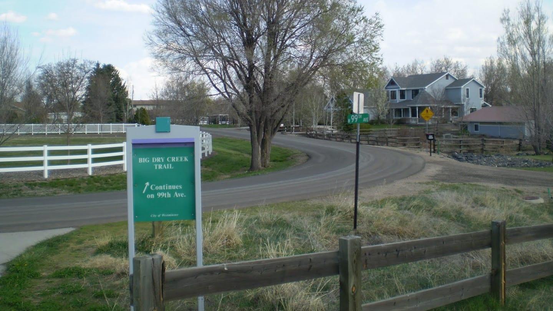 Big Dry Creek Trail Sign 99th Avenue