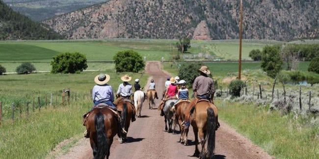 Black Mountain Colorado Dude Ranch Horseback Riding