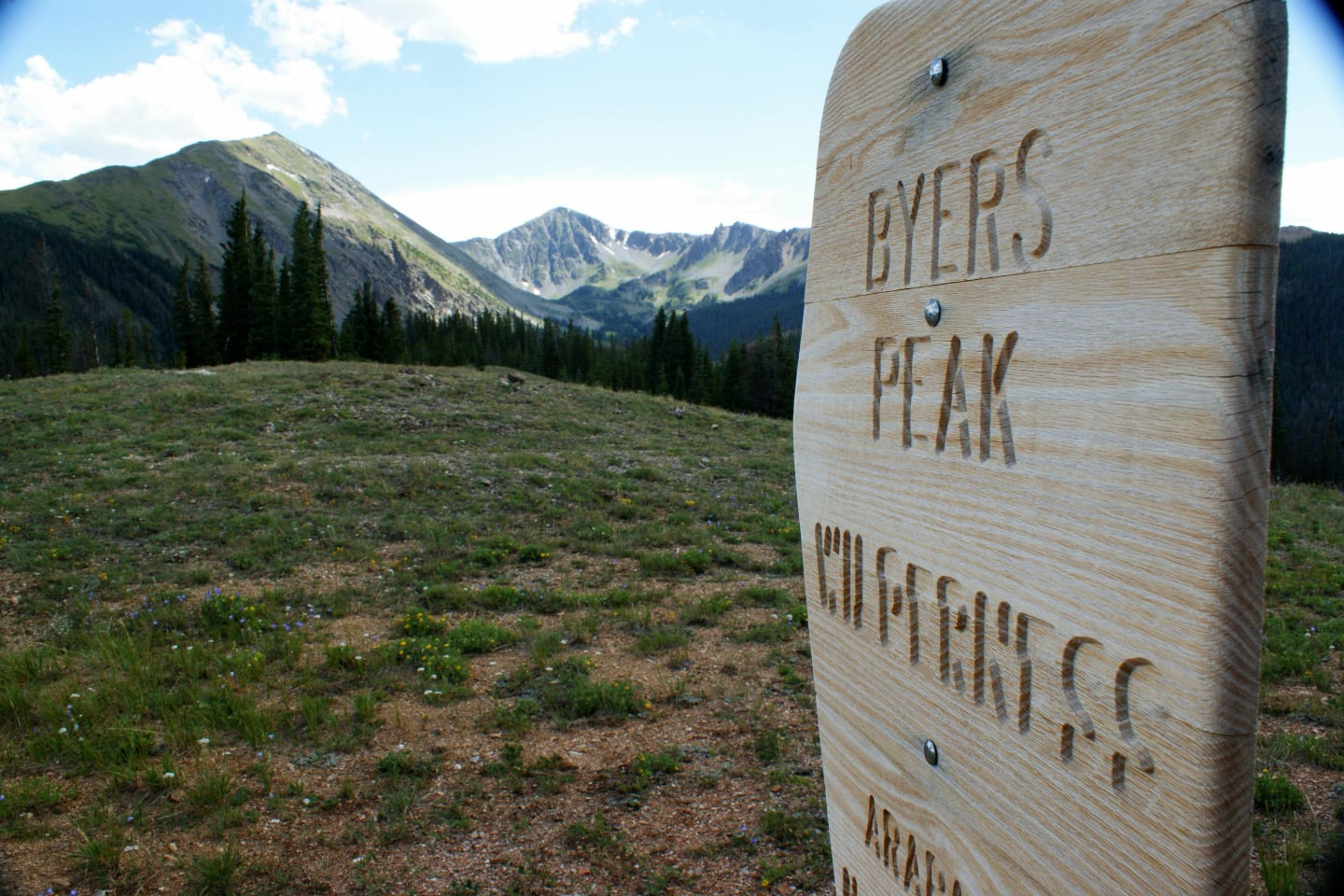 Byers Peak Wilderness Sign Colorado