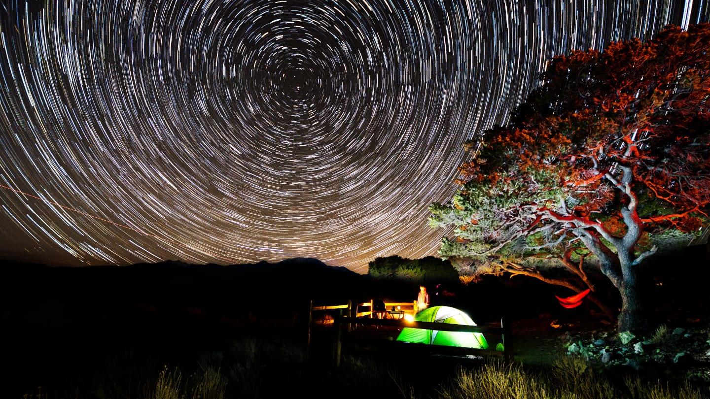 Camping Great Sand Dunes Starry Night Sky