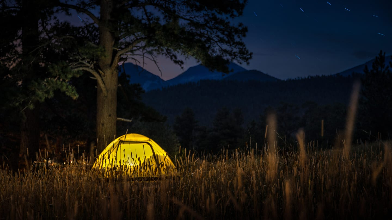 Camping Moraine Park Campground Night