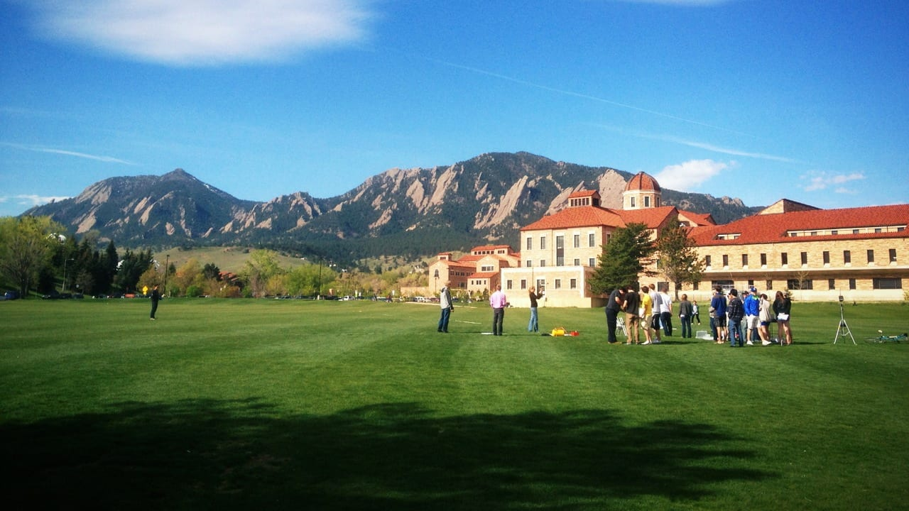 CU Boulder Blue Sky Day