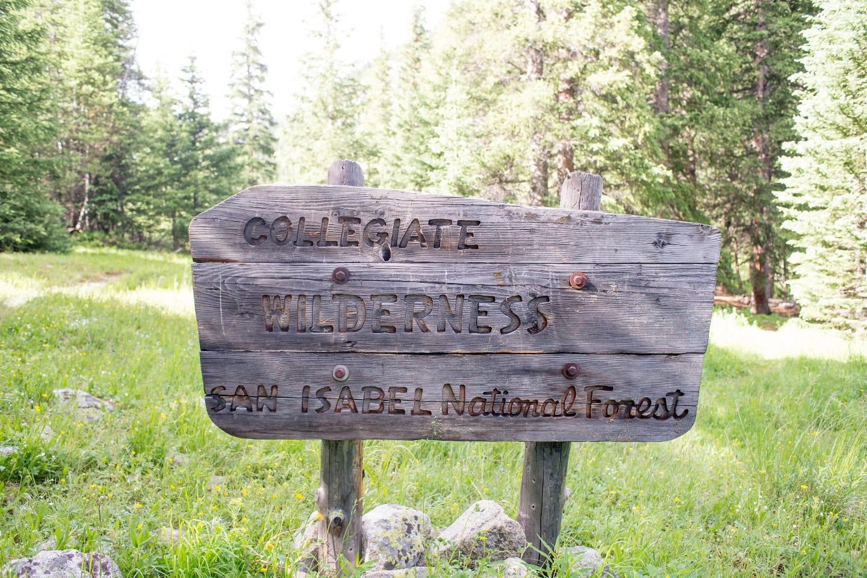 Collegiate Peaks Wilderness Sign Colorado