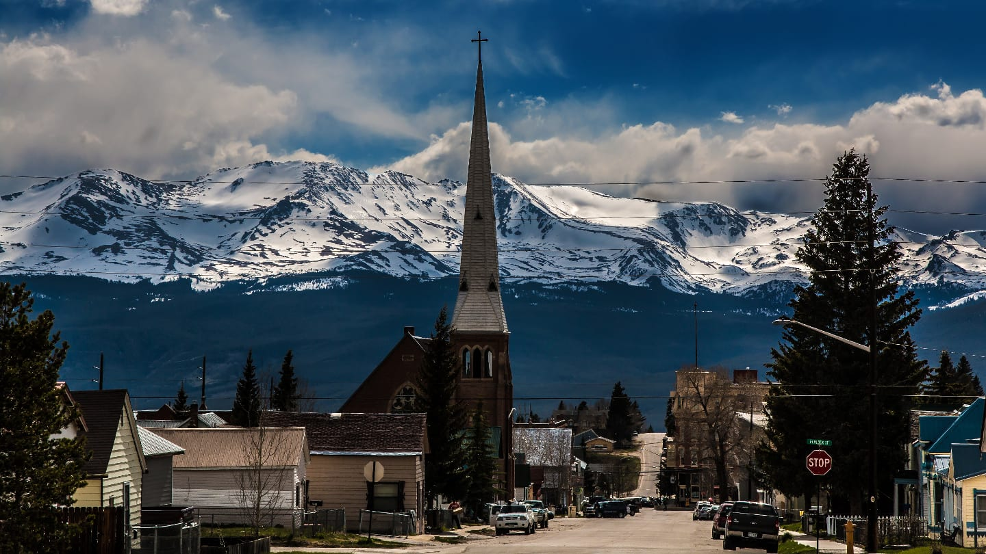 Downtown Leadville Colorado Mountains
