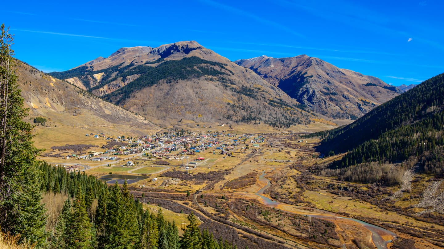 Silverton Colorado Aerial View