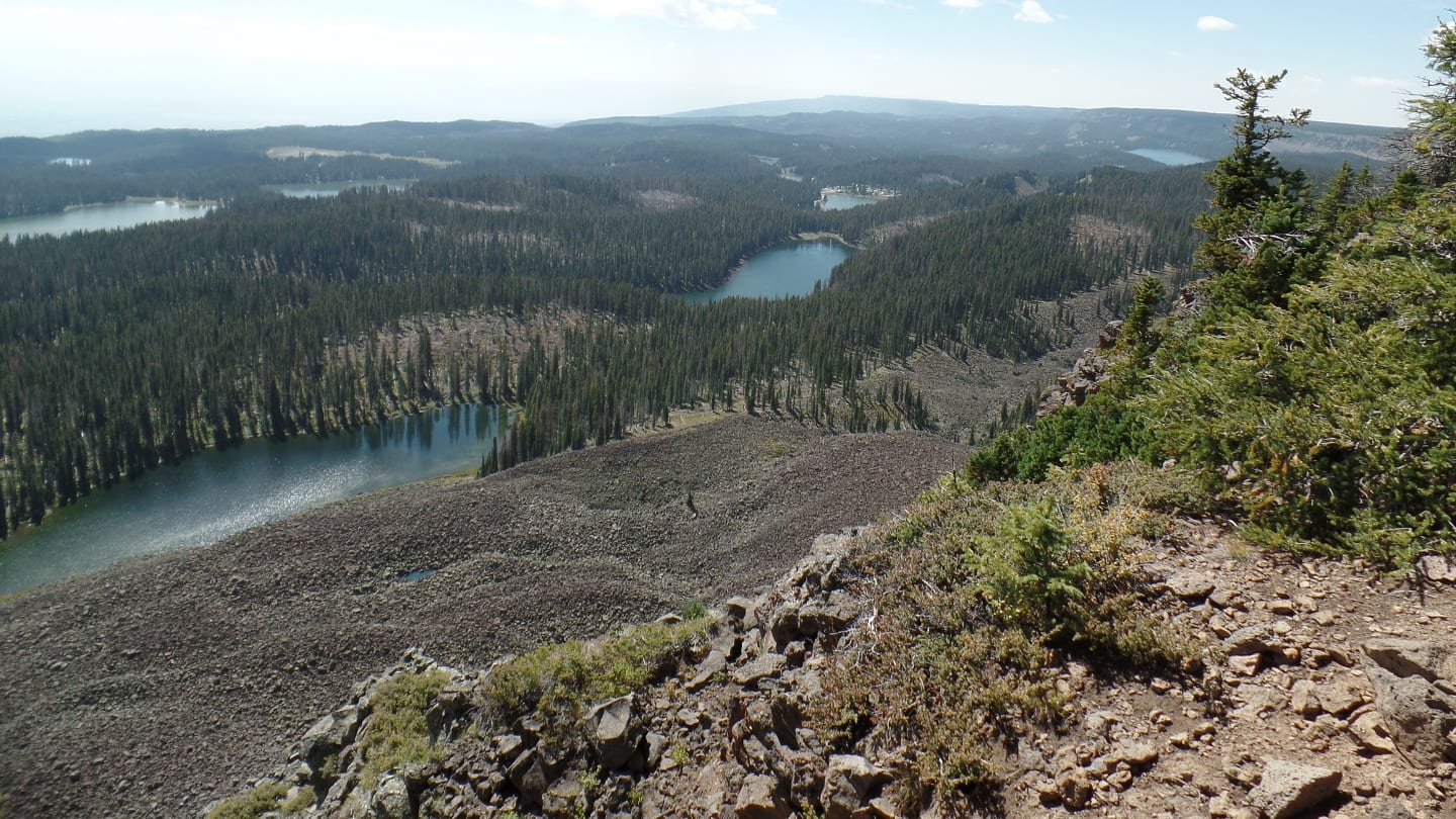 Crag Crest Trail Mesa Overlook Lakes