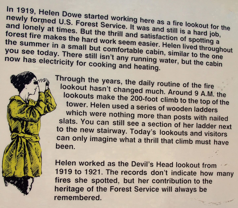 Devil's Head Trail Interpretive Sign Helen Dowe