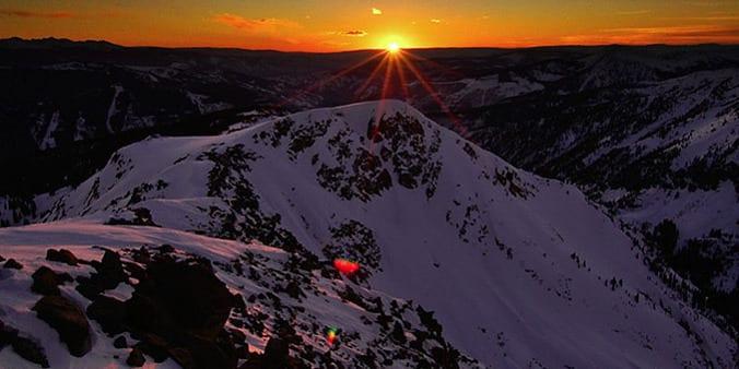 Eagles Nest Wilderness Gore Range Vail Valley Sunset