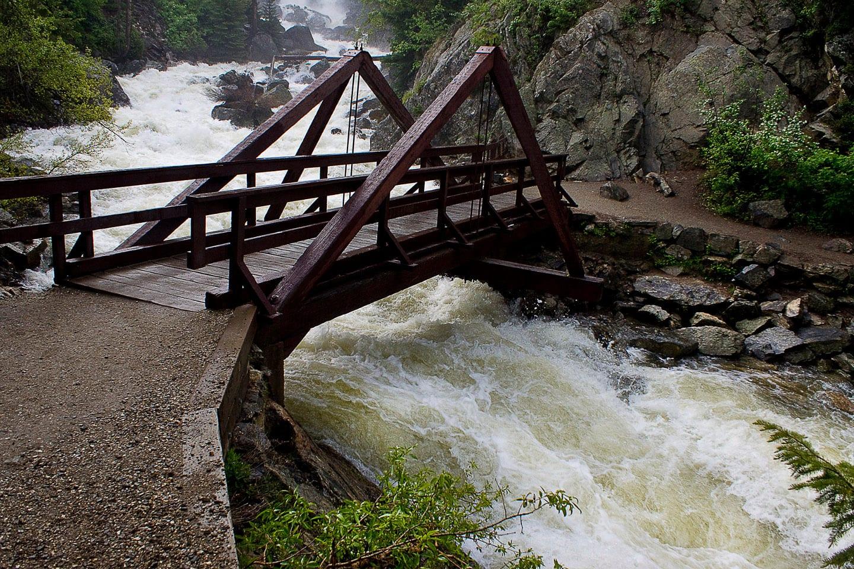 Fish Creek Falls Trail Bridge Whitewater