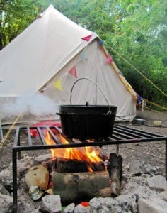 Glamping Campfire Cast Iron Pot