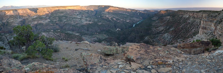 Gunnison Gorge Wilderness Colorado Panorama