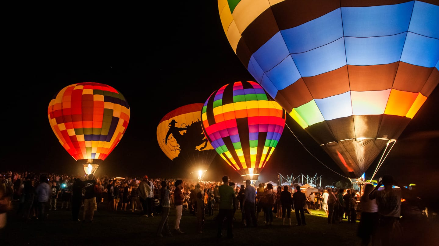 Hot Air Ballooning Colorado Balloon Classic Night