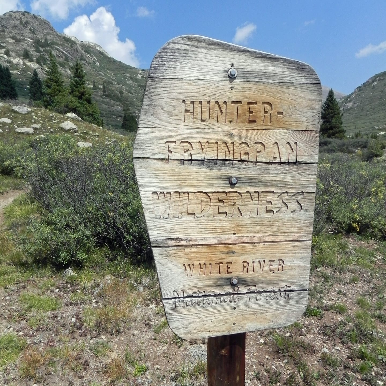 Hunter Fryingpan Wilderness Sign
