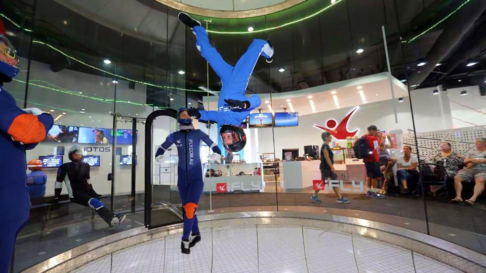 IFLY Indoor Skydiving Upside Down Colorado