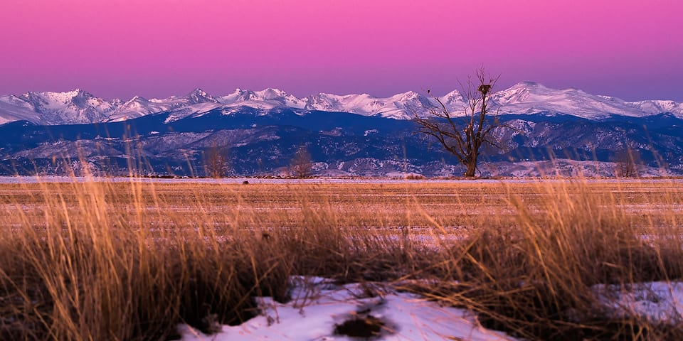 Indian Peaks Sunrise Colorado