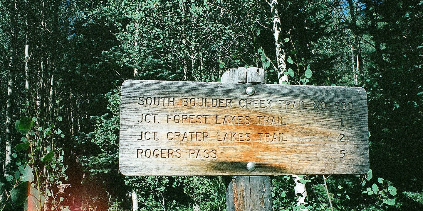 James Peak Wilderness Trail Marker