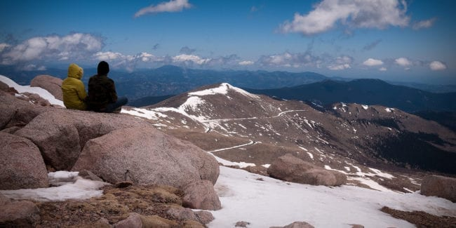 Mount Evans Trail Summit Colorado