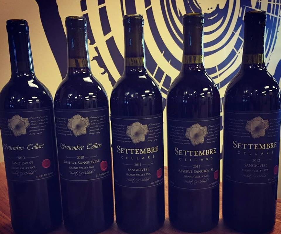 Settembre Cellars Sangiovese Wine