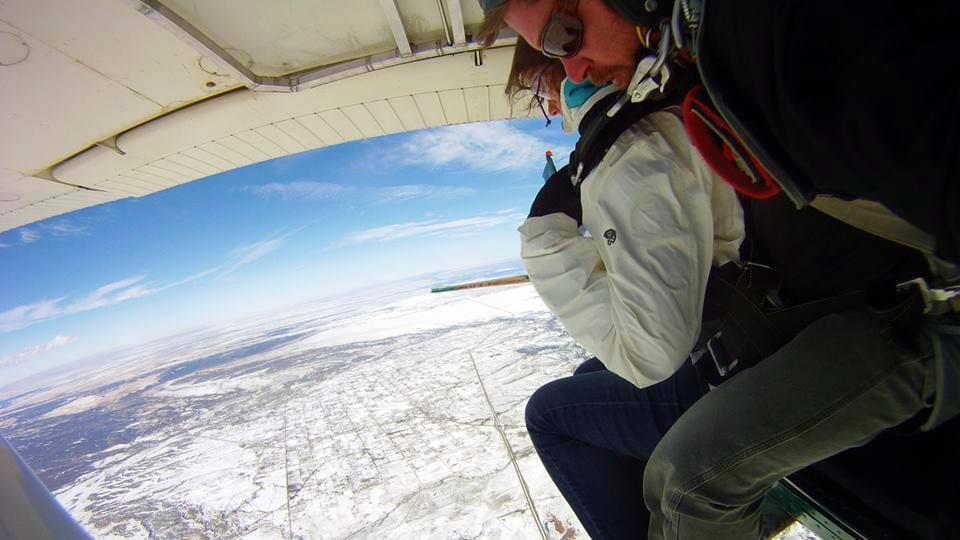 Skydive Colorado Airplane Aerial View