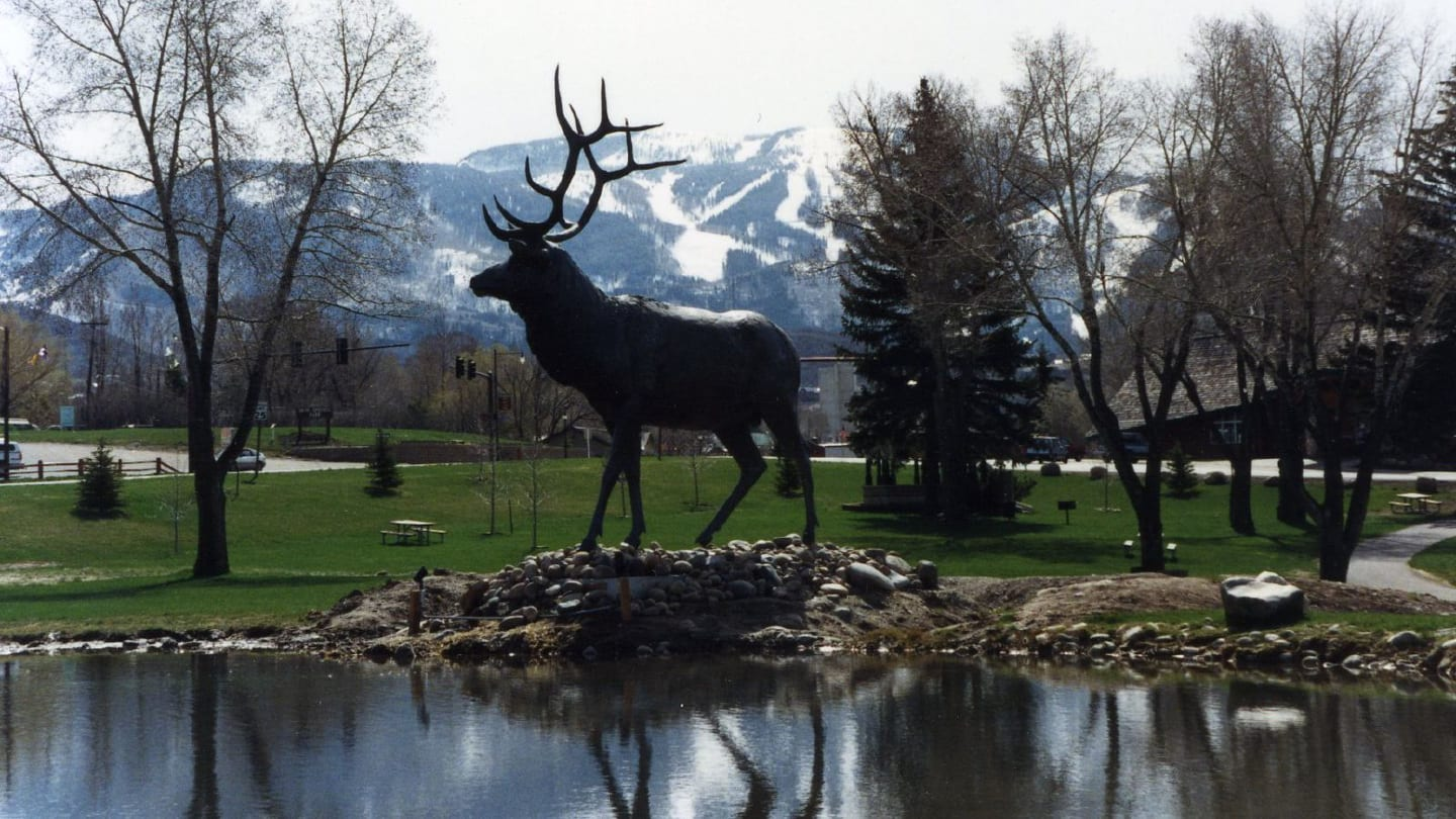 Downtown Steamboat Springs Elk Statue
