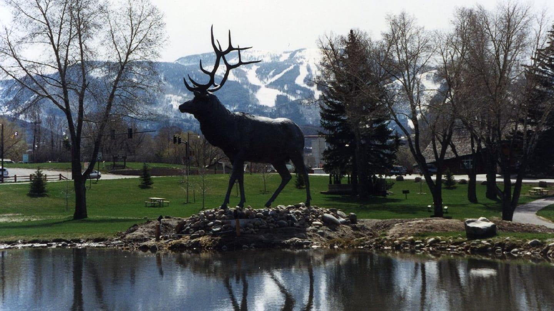 Downtown Steamboat Springs Elk Statue