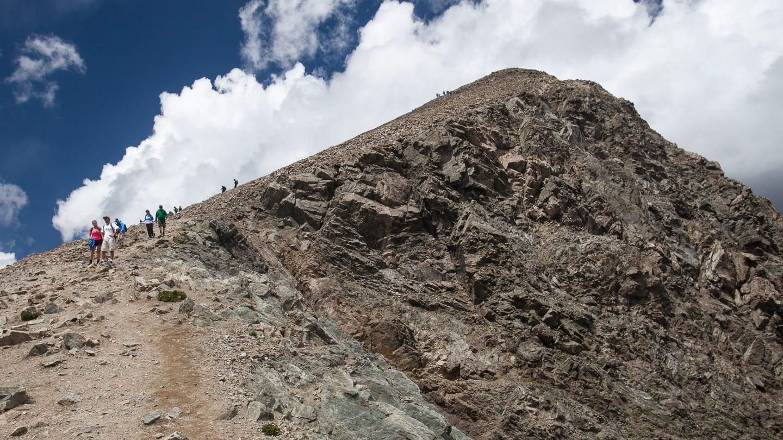 Torreys Peak Hiking Trail Summit Colorado