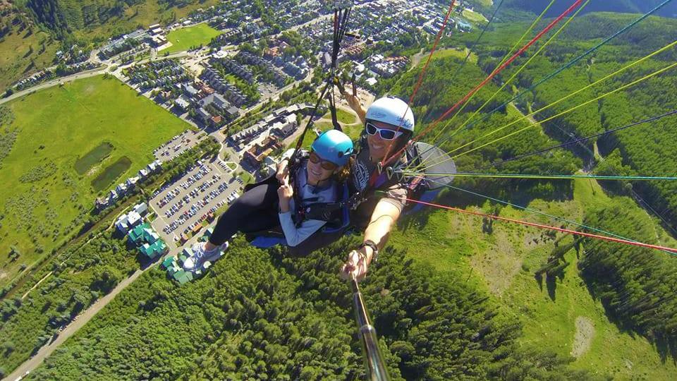 Telluride Paragliding Aerial View