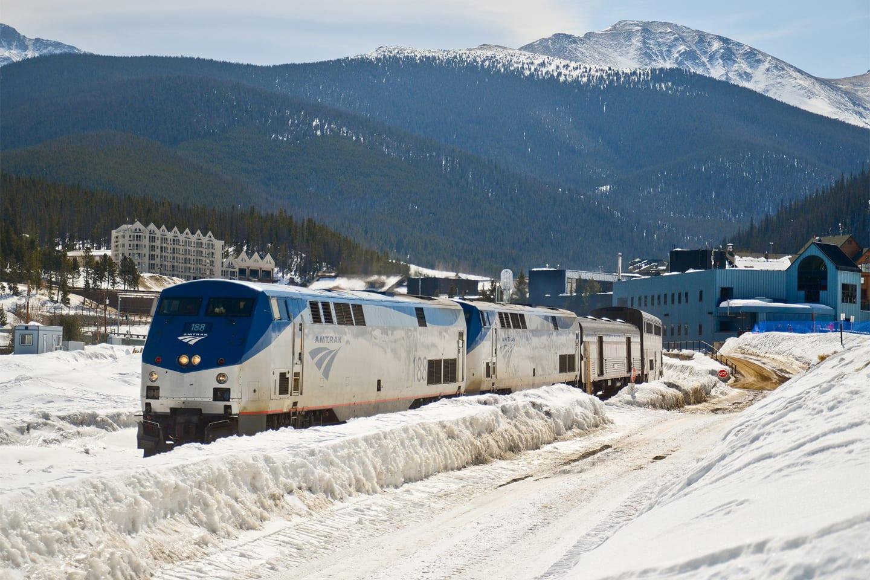 Amtrak Winter Park Ski Train Fraser Colorado