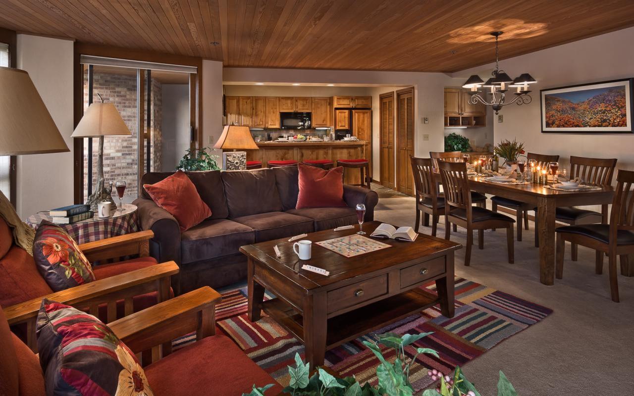 Chateau Chamonix Living Room