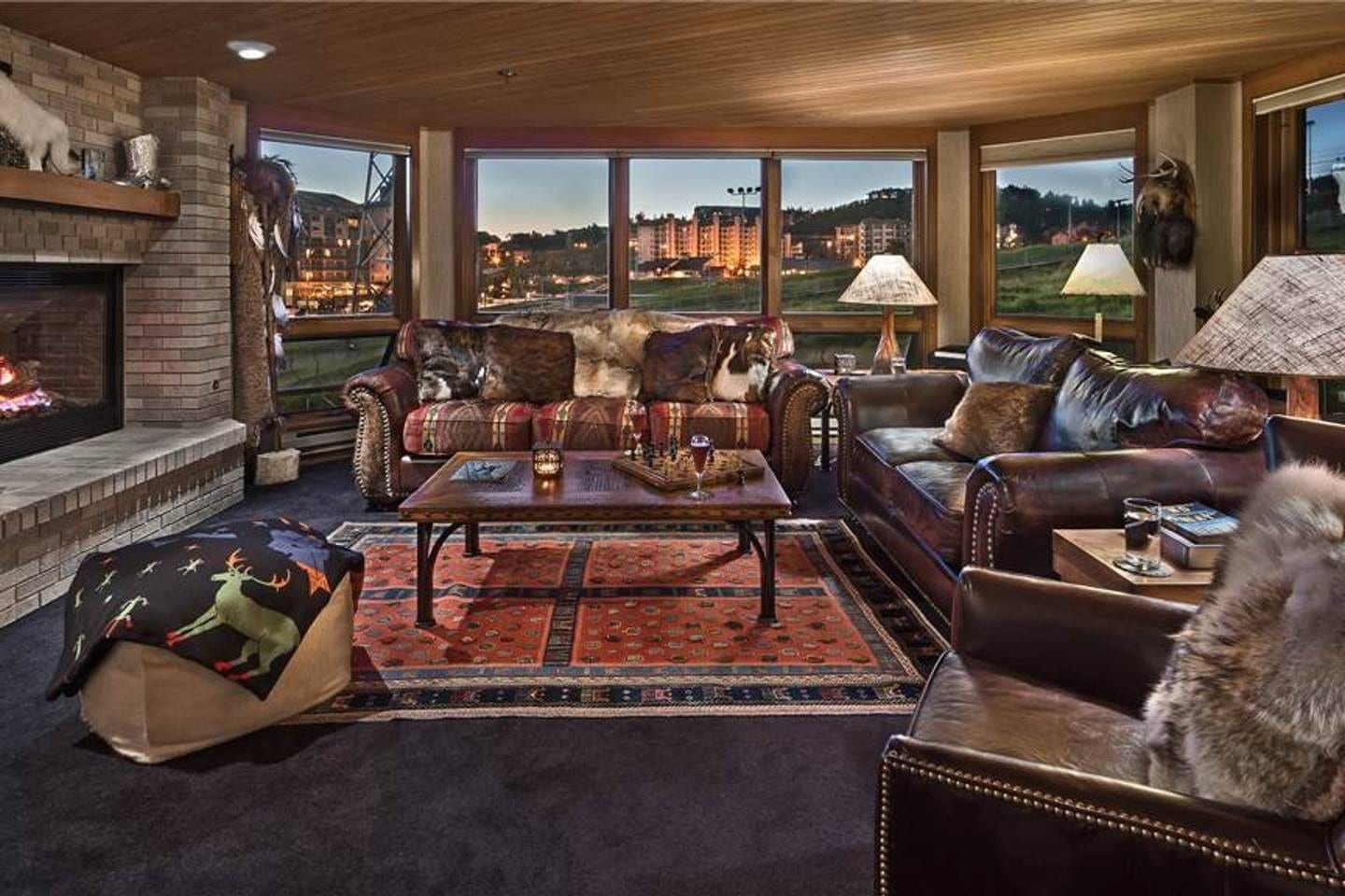 Chateau Chamonix Fireside Lounge Steamboat Springs