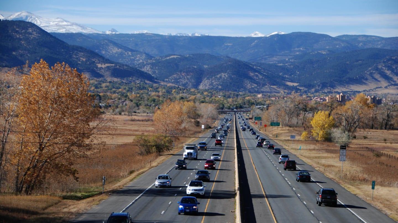 Driving Highway 36 Boulder Colorado