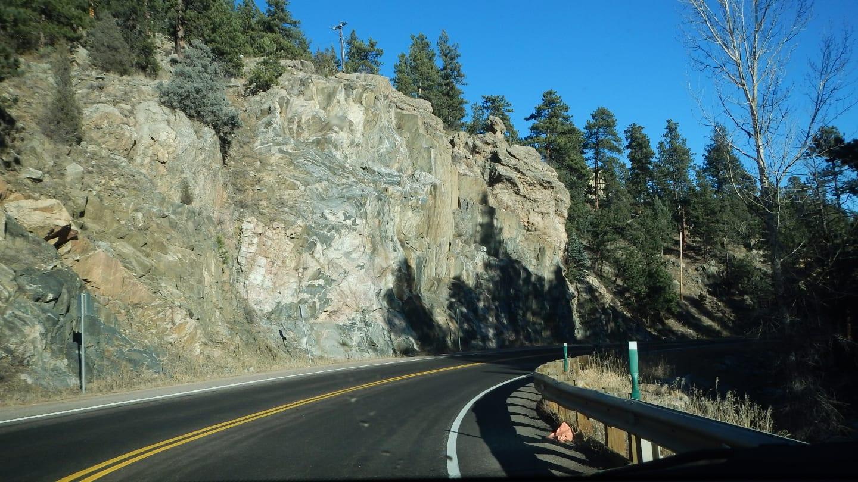 Mountain Driving Bear Creek Road Genesse Park Colorado