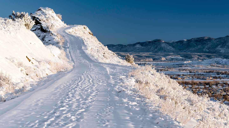 Skyline Road Winter Driving Canon City Colorado
