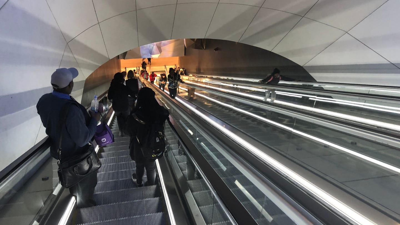 Denver Airport Train Station DIA Escalators