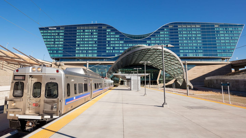 Denver Airport Train Platform Westin Hotel