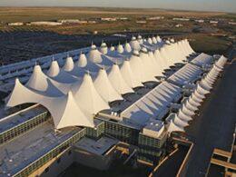 Denver International Airport Colorado Aerial View