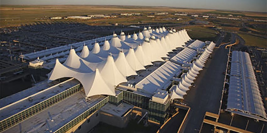 Denver International Airport Colorado Aerial View