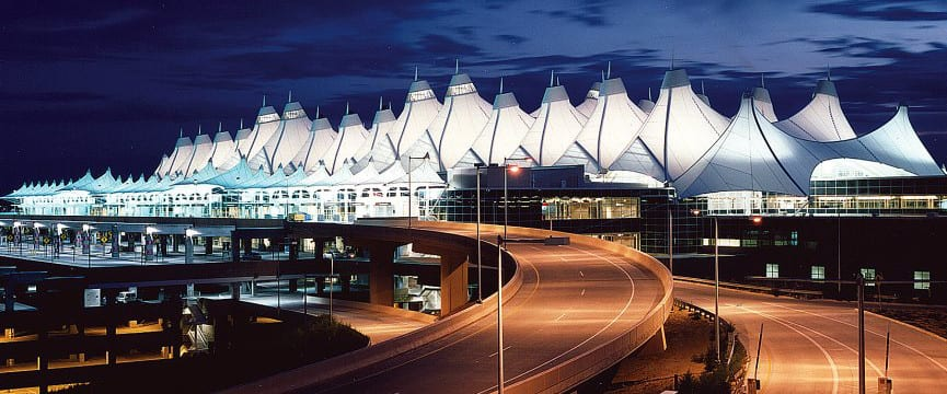 Denver International Airport West Side Night
