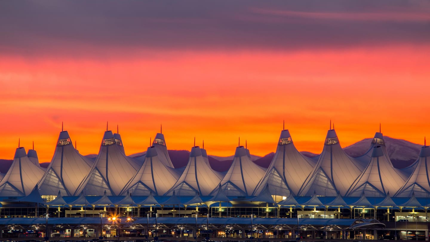 Denver International Airport Sunset