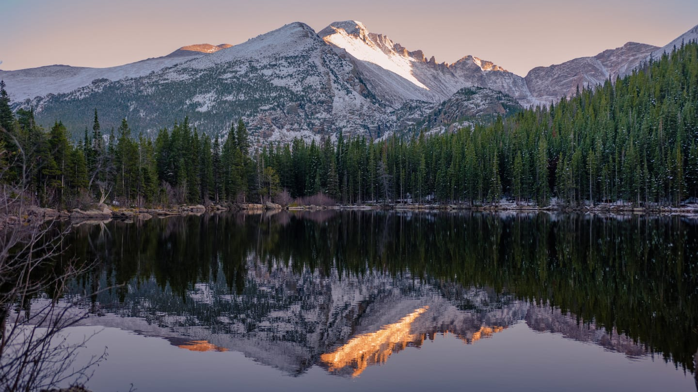 Hiking Bear Lake Dusk Rocky Mountain National Park