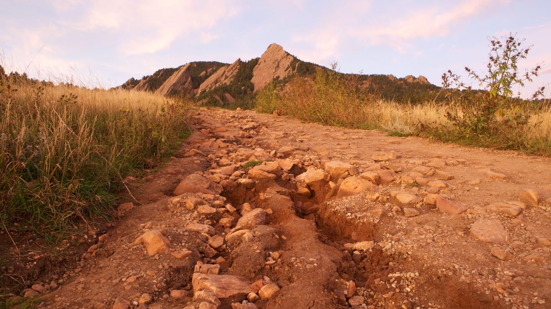 Hiking Chautauqua Trail Boulder Colorado