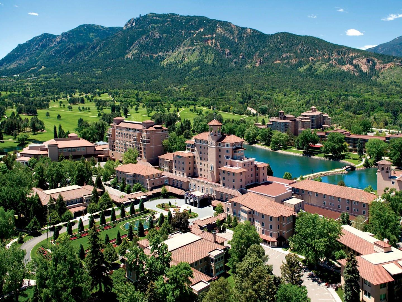 Broadmoor Hotel Colorado Springs Aerial View
