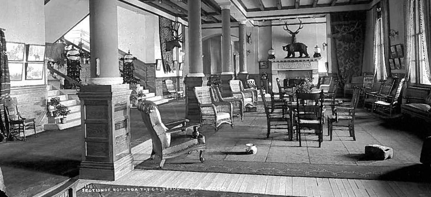 Old Lobby of Hotel Colorado Glenwood Springs