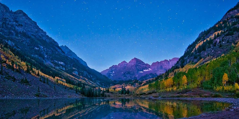 Maroon Lake Autumn Aspen Colorado
