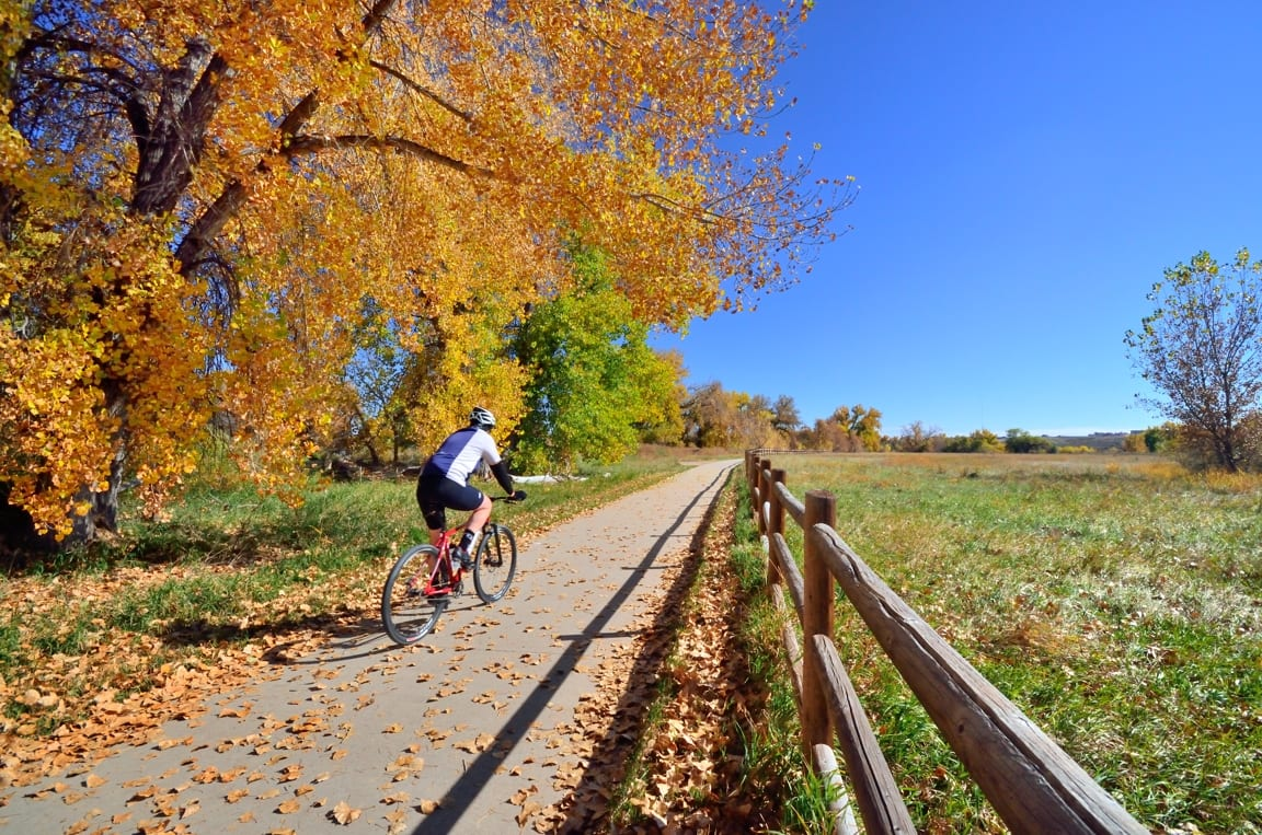 Biking Poudre River Trail Frank State Natural Area Windsor