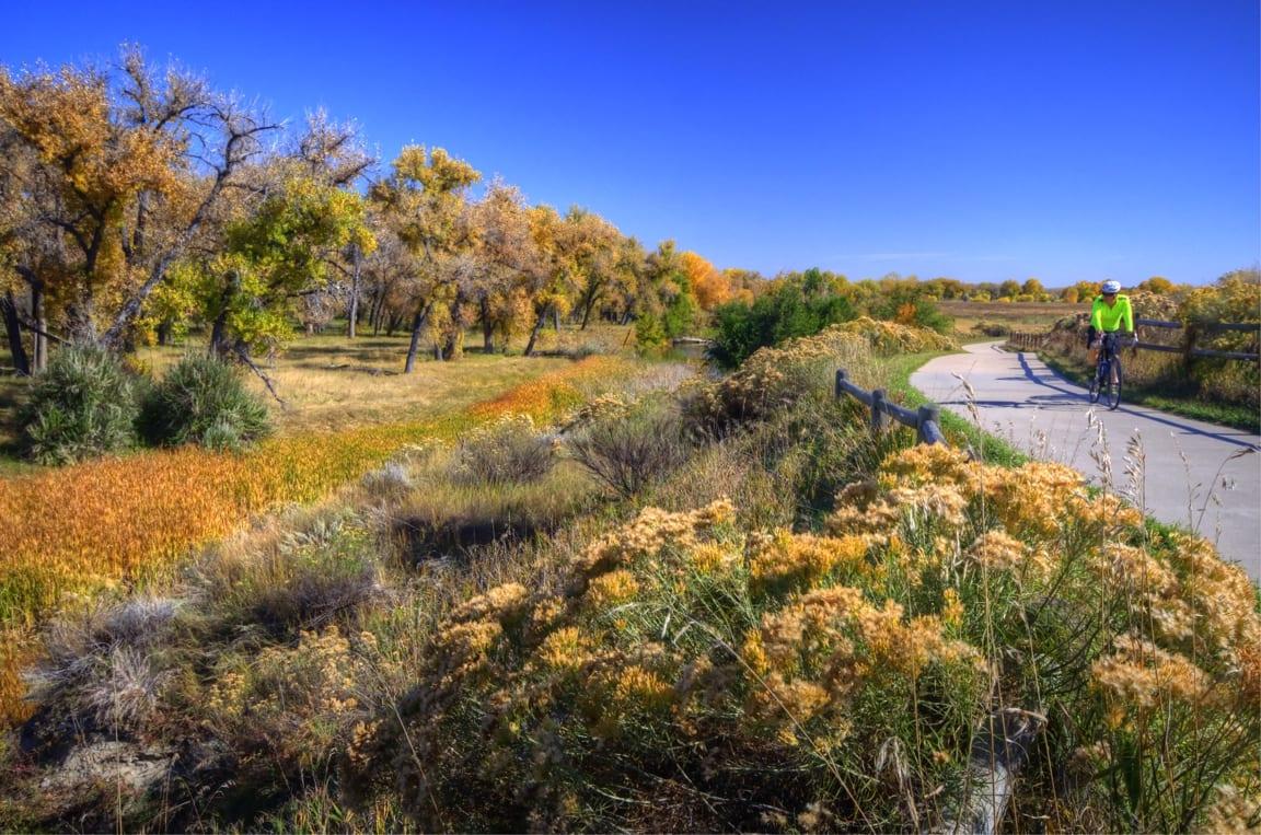 Poudre River Trail Biker Frank State Natural Area