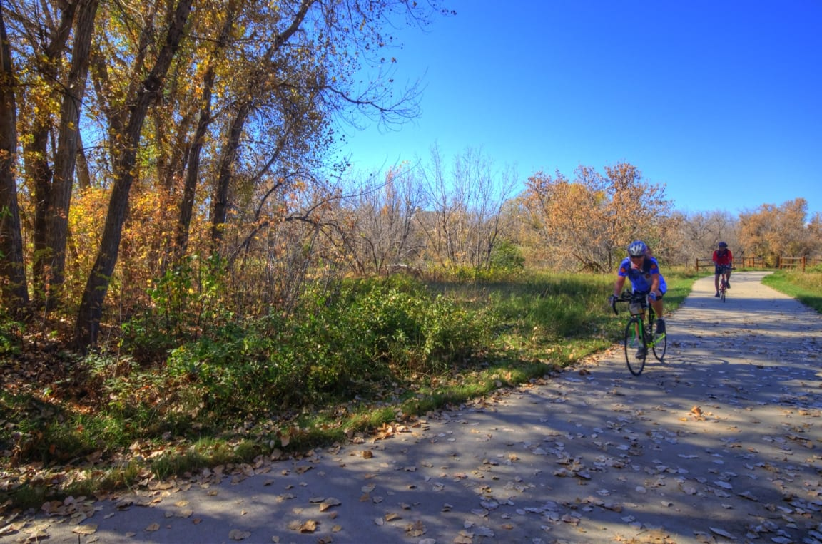 Biking Poudre River Trail River Bluffs Open Space