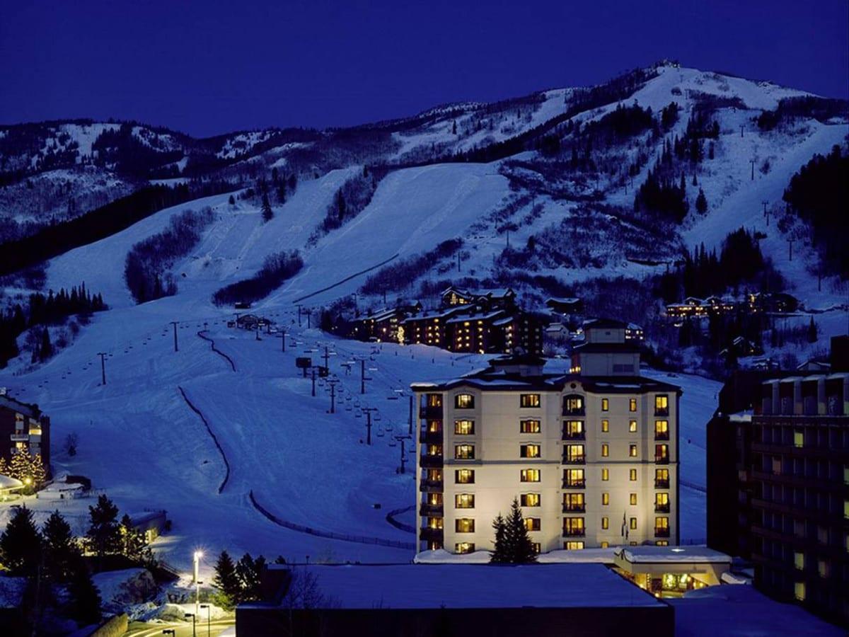 Sheraton Steamboat Resort Villas Winter Evening