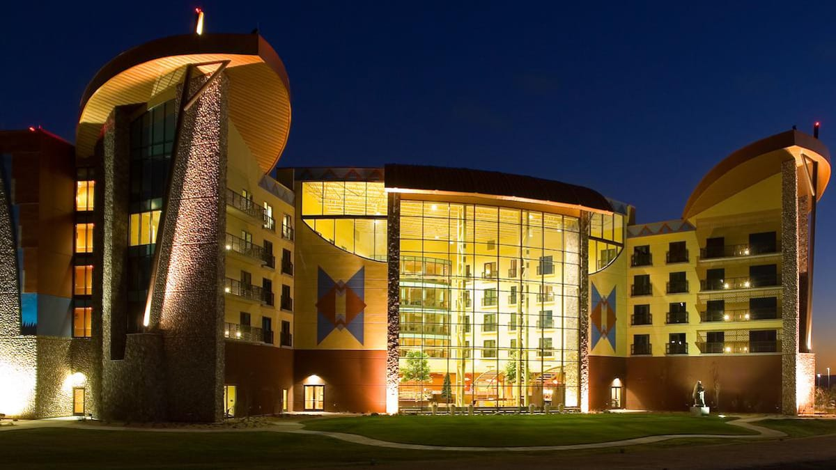 Sky Ute Casino Hotel Ignacio Colorado Exterior Night
